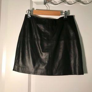 Asos leather miniskirt